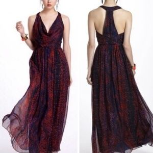 HD in Paris Silk Printed Maxi Dress Seeded Sinopia